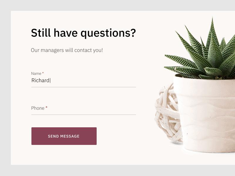 Questions pop-up