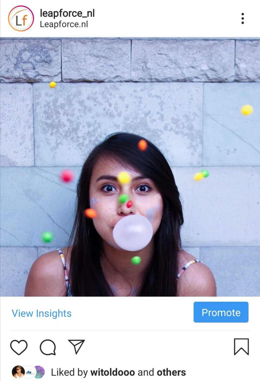 Instagram likes onzichtbaar