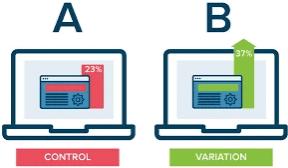 Website of webshop A/B test