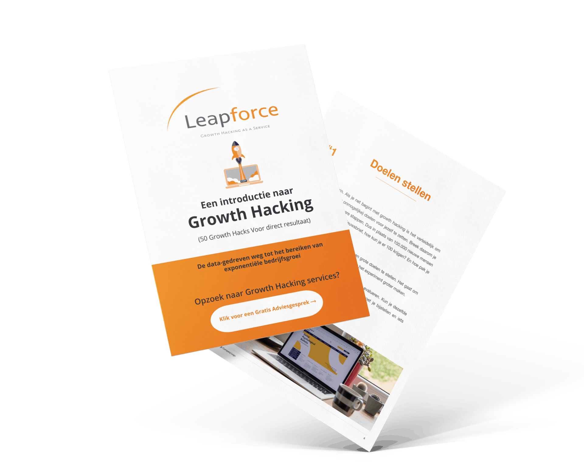 Landing page - Growth Hacking E-Book copy